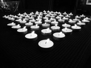 Jan 1 2012 candles B&w