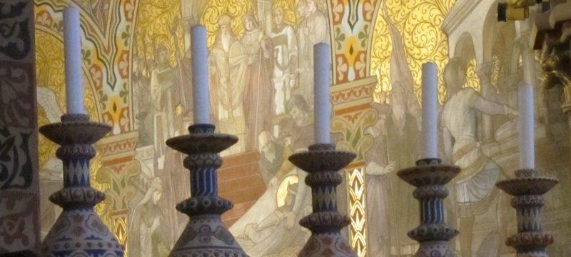 Church interior, Budapest — by Ana Gobledale