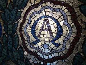 Alpha Omega mosaic - by Ana