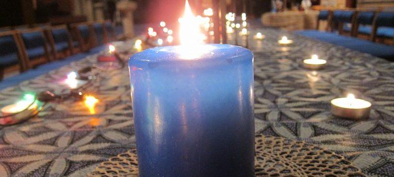 Blue Christmas service, Salisbury United Reformed Church, UK — Ana Gobledale