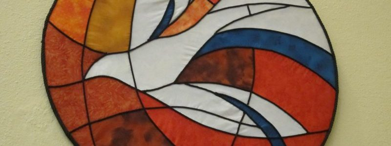 Dove window, Carter United Reformed Church, Windermere UK; photo by Ana Gobledale