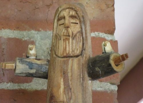 Dancing St Francis, made in Santa Fe, USA, currently resident in Kalista, Victoria, Australia