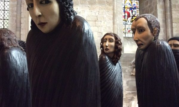 'Shadows of the Wanderer' by Ana Maria Pacheco, Chichester Cathedral, UK — photo by Ana Gobledale