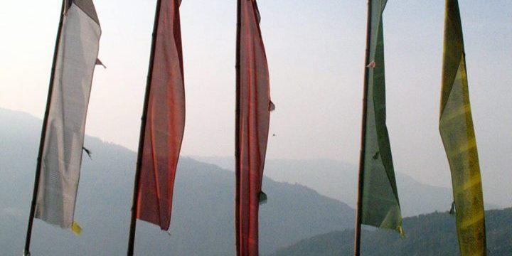 Buddhist prayer flags, Nepal – photo by Thandiwe Dale Ferguson