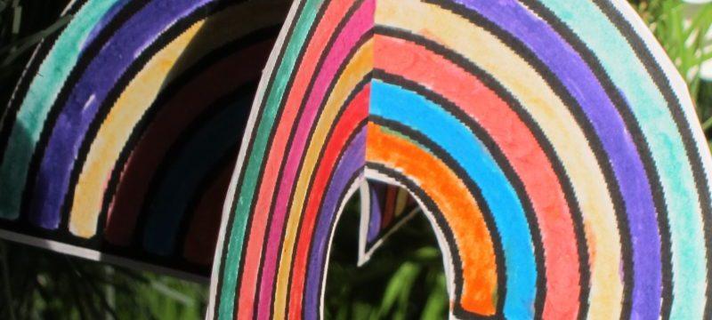 rainbow, Charity Christmas Tree Festival, St Thomas Church, Salisbury UK — Ana Gobledale
