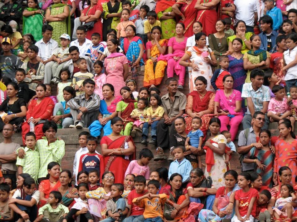 Nepali crowd -- by Thandiwe Dale-Ferguson