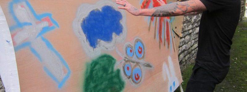 Youth Easter mural, Salisbury UK — Ana Gobledale