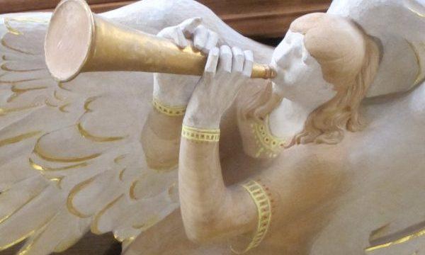 angel trumpet musician, Bath Abbey UK