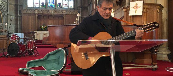 Pastor Samuel, Iglesia Misionera Evangélica, Muswell Hill, London UK — photo by Dave Mahon