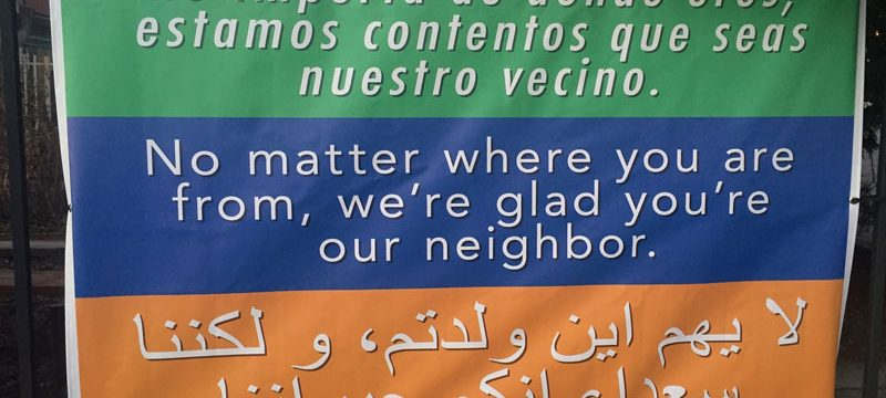 Refugee banner -UCC, USA