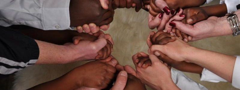circle of hands – unity