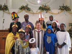 Nativity cast, London UK -- photo by Ana Gobledale