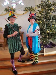 Jesters in the Nativity Panto, London UK