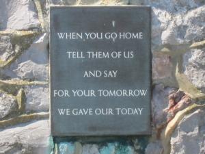 Remembrance Citation on side of memorial, Kent, UK -- Ana Gobledale