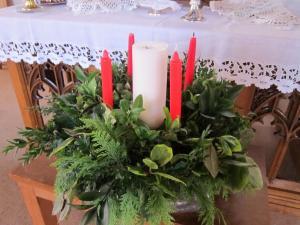 Advent candles, London UK