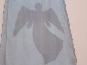 Angel banner, Salisbury URC, stitched by Sarah Little