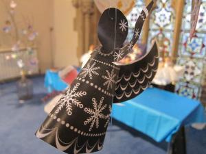 Angel festival Salisbury UK - paper angel