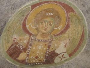 Angel fresco, Church of St Nicholas, Myra, Turkey