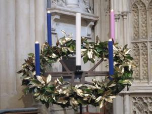 Bath Abbey Advent candles, UK