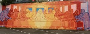 Bellingham street art, Last Supper --  photo by Thandiwe Dale-Ferguson,