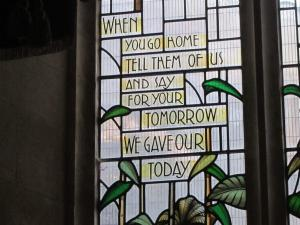Cardiff, Wales, Remembrance window - Ana Gobledale, UK