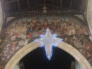 Christmas star, St Thomas's Salisbury -- photo by Ana Gobledale