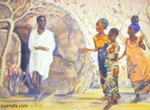 Easter morning at the tomb - Africa jesusmafa  image,  www.jesumafa.com