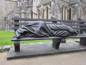 Homeless Jesus, Christ Church Cathedral, Dublin, Ireland -- Ana Gobledale