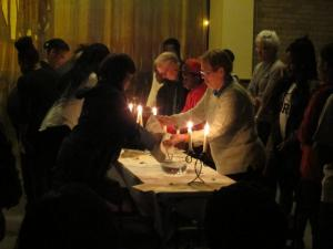 Maundy Thursday, washing of the hands, New Cross, London, UK -- Ana Gobledale