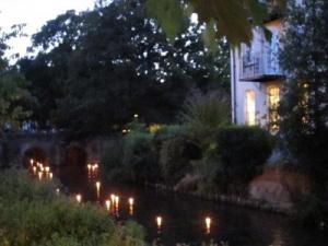 Hiroshima Day candles for peace, Salisbury UK