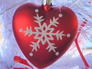 Christmas heart, photo by Ana Gobledale