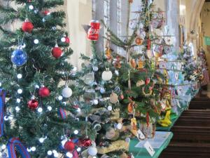 Charity Christmas Tree Festival, St Thomas Church, Salisbury UK -- Ana Gobledale
