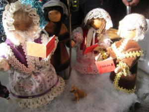 Carollers created by Joy P, Salisbury UK -- Ana Gobledale