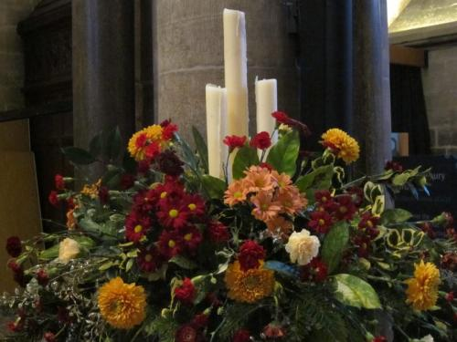 Advent candles, Salisbury Cathedral, UK -- Ana Gobledale