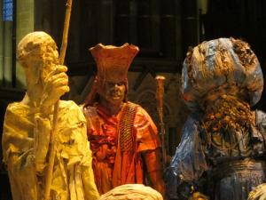 Three Wise Ones from the East, Life-size nativitiy scene, Salisbury Cathedral UK -- Ana Gobledale