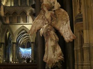 Angel, Salisbury Cathedral, UK -- Ana Gobledale
