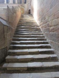 Stone stairway -- photo by Ana Gobledale