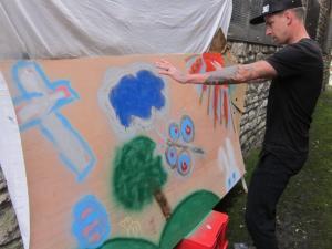 Youth Easter mural, Salisbury UK -- Ana Gobledale