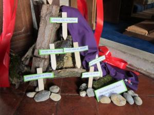 Lent display, Kent UK; photo by Ana Gobledale