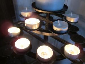 prayer candles, UK -- Ana Gobledale