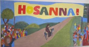 Hosanna Palm Sunday Mural, painted by the youth, London, UK -- Ana Gobledale