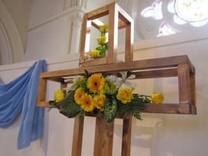 Easter cross, London UK -- photo by Ana Gobledale
