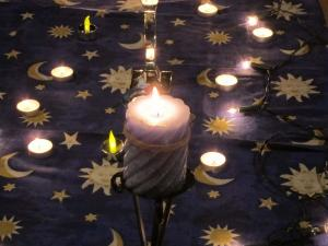 Blue Christmas service, Salisbury United Reformed Church, UK -- Ana Gobledale