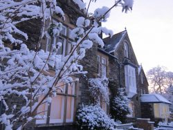 Windermere Centre in snow -- photo by Ana Gobledale