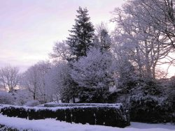 winter snow scene at Windermere -- photo by Ana Gobledale
