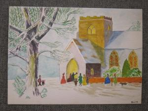 artwork by Tom, St Andrew's United Reformed Church, Brockley, London UK -- photo by Ana Gobledale
