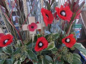 Remembrance Day bouquet, Ana Gobledale, London UK