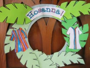 Palm Sunday wreath by Girls Brigade, Andover United Reformed Church UK