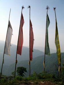 Buddhist prayer flags, Nepal - photo by Thandiwe Dale Ferguson