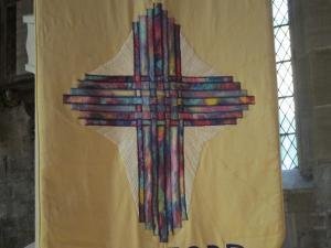 Rainbow cross, Holy Trinity, Bradford on Avon, UK